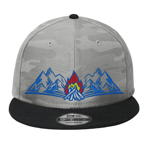 Colorado Campfire Flat Bill Snap Back Hat - Rainstorm Camo