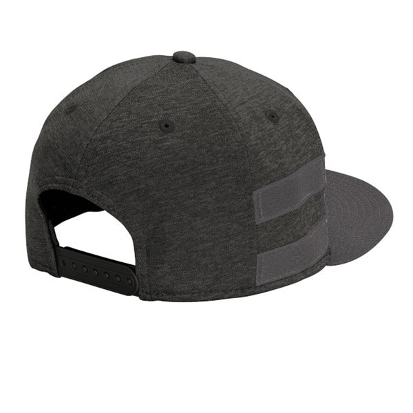 Colorado Stripe Flat Bill Snap Back Hat - Black Shadow / Graphite