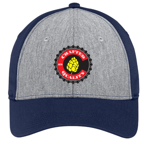 Crafted Quality Colorado Brewers_Full Color_Snap Back Trucker Hat - Vintage Heather & Navy
