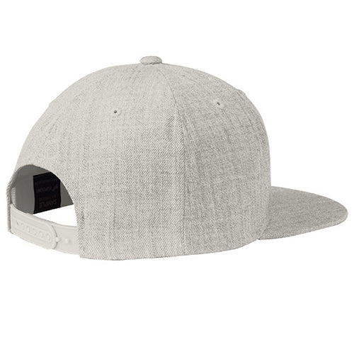 5280' Flat Bill Snap Back Hat - Heather Grey