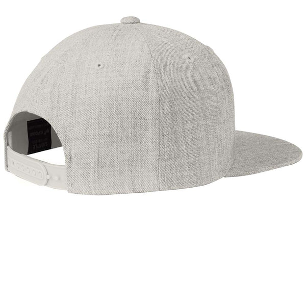 Columbine Flat Bill Snap Back Hat - Heather Grey