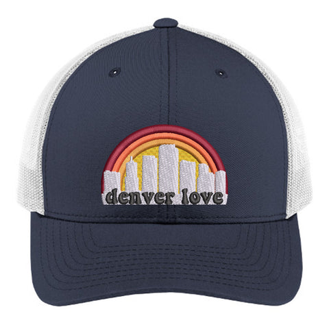 Denver Love Trucker Hat - Multicam True Navy