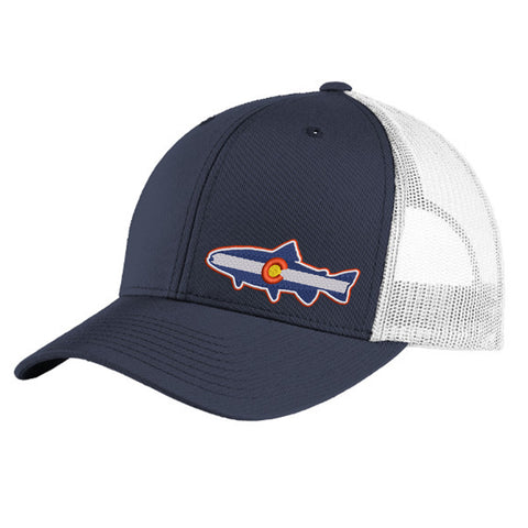 Colorado Fish Trucker Hat - True Navy