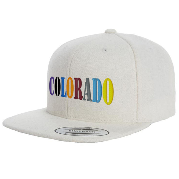Colorado Team Colors Wool Flat Bill Snap Back Hat - Natural