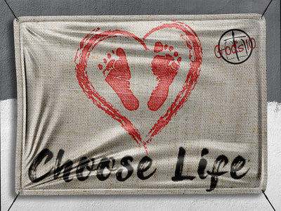 Choose Life Heart **BANNER**