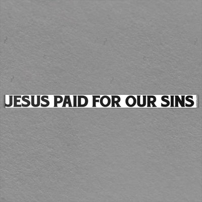 Jesus Paid For Our Sins
