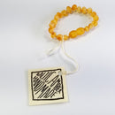 "Honey Amber Anklet|Bracelet - Baby 5"" or 6"""