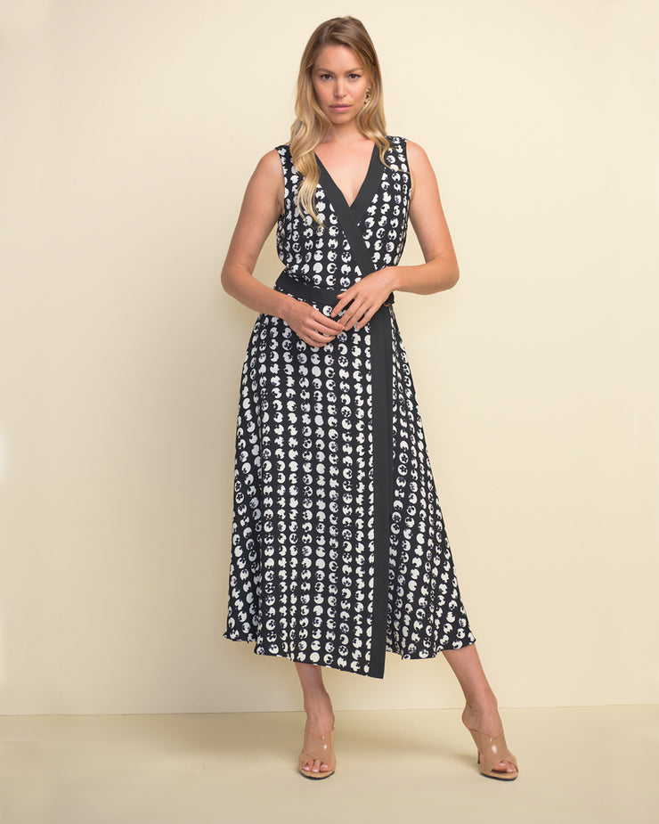 Joseph Ribkoff - LONG PRINT WRAP DRESS