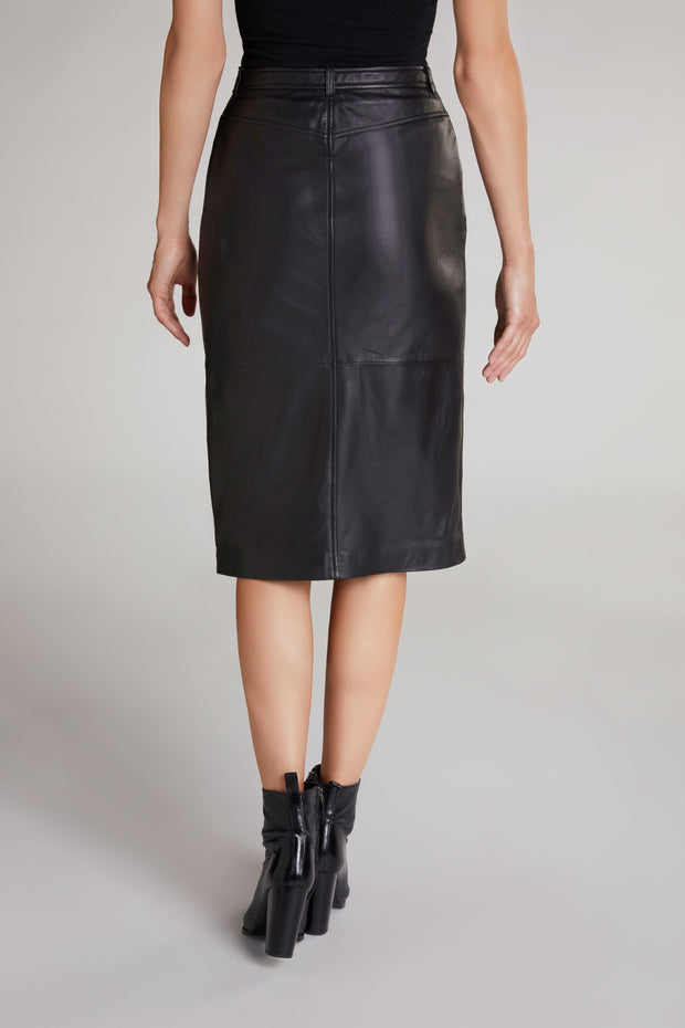 Oui - Leather PENCIL SKIRT