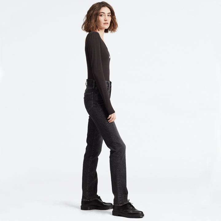 Levis 724 High Rise Straight Black/30