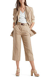 Marc Cain Wide Trousers With Beige Belt