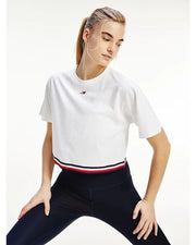 Tommy Hilfiger - Relaxed Crew Neck Crop Tee