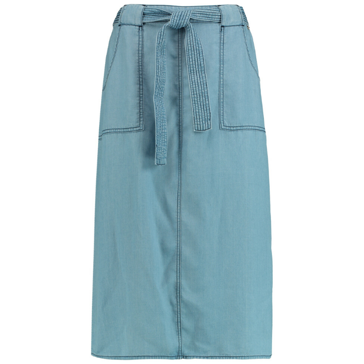 Taifun Denim Skirt With Belt
