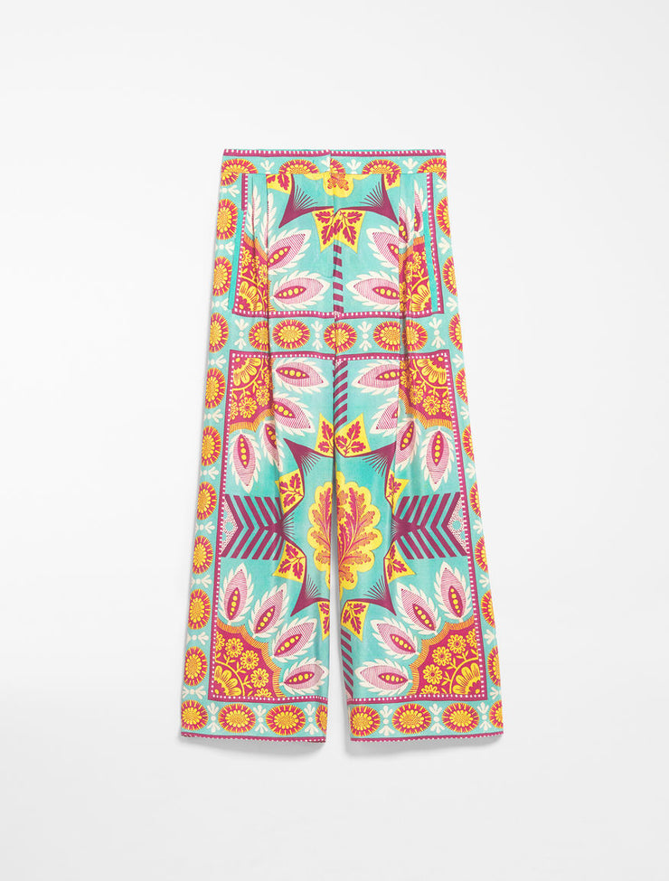 Weekend Silk Crepe de Chine Trousers