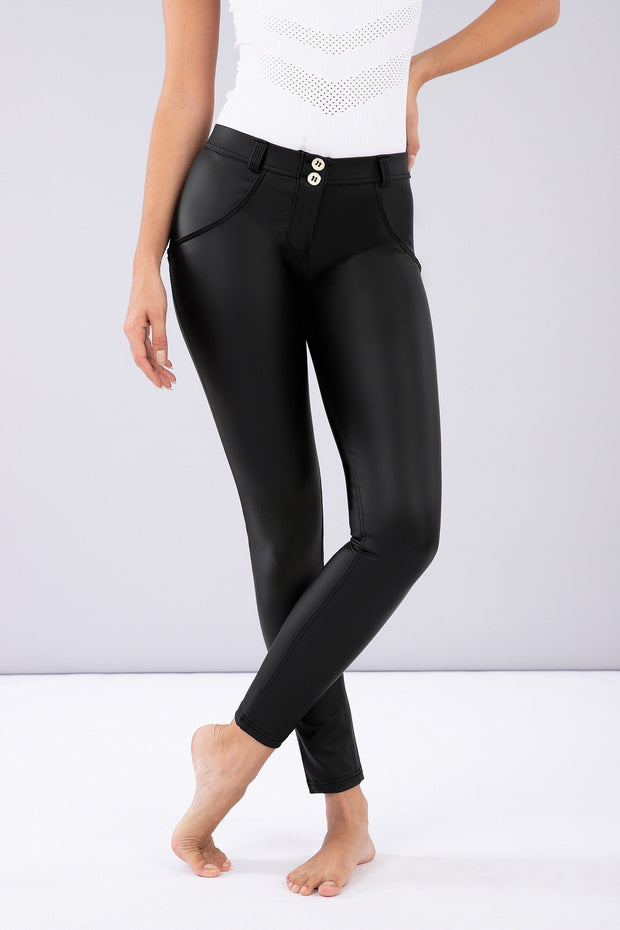 Freddy Mid rise Faux Leather Pants
