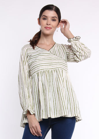 Angrakha Striped Top
