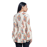 Bell Sleeves Gathered Top