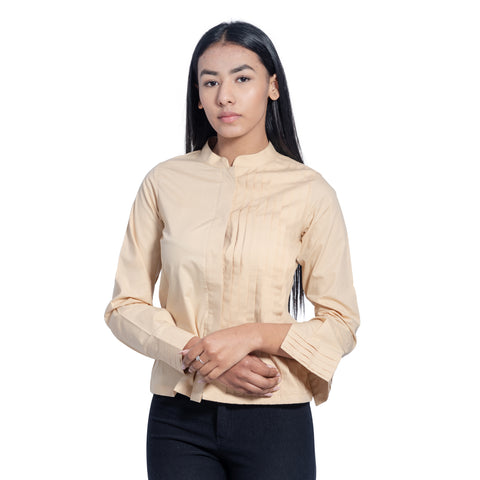 Half Pleated Shirt