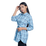 Checked Tie Shirt