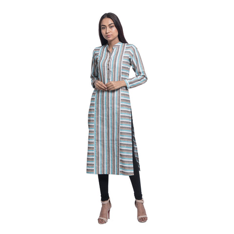 Green Stripes Kurta