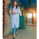 Striped Round Hem Kurta