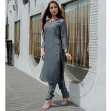 V Neck Kurta and Trouser Set