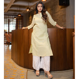 V Slit Neck Kurta and Palazzo Set
