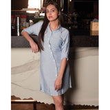 Waist Tie Shirt Dress