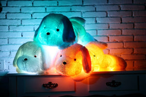 50cm luminous dog plush doll colorful LED glowing dogs children toys for girl kidz birthday gift  WJ445 Bear