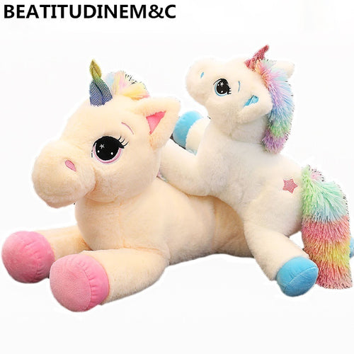 1Pcs 40cm/60cm Rainbow Unicorn Plush Toys, Children's Toys, Animal Plush Toys, Baby Toys, Gifts, Home Decor   soft