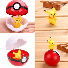 Load image into Gallery viewer, Anime Pokemon Pikachu Pokeball Cosplay Pop-up Poke Ball Gift Kid Children Fun Toys 7cm 2 Types (size 1 :Pokeball, size 2:Pokebal