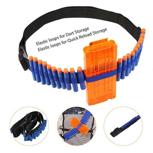 Moomr® 28pcs Kids Ultimate Tactical Vest Kit Holster Belt Wristbands Refill Darts Kit for Nerf Guns Game