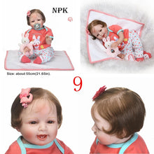 Load image into Gallery viewer, Soft Silicone Cute  Lifelike Reborn Baby Doll Toys Children Birthday Gifts