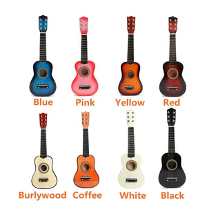 21'' Kids Toys Basswood Acoustic Guitar 6 String Practice Music Instruments Children Gifts (8 Color)