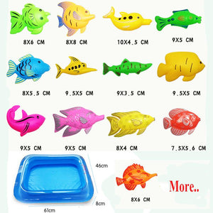 40pcs/lot With Inflatable pool Magnetic Fishing Toy Set