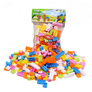 60g about 70 Pcs Plastic Building Blocks Bricks Children Kids Educational Puzzle Toy Model Building Kits for Kids Gift