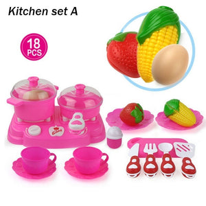 9 types Children DIY Play House Toy Role Play Toy Set Kids Gifts