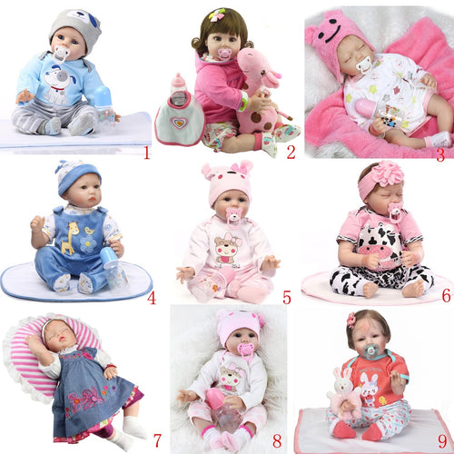 Soft Silicone Cute  Lifelike Reborn Baby Doll Toys Children Birthday Gifts