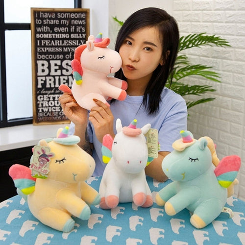 Soft Rainbow Unicorn Plush Toy Adorable Plush Unicorn soft  Stuffed Animal Unicorn Plush Toys Brand For Children Gift