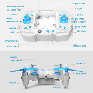 901/901S RC Mini Drone with Camera Foldable Quadcopter WiFi FPV Real Time Video Photo Gift for Children