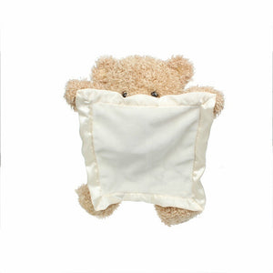 Peek a Boo Teddy Bear Playing Hide and Seek Lovely Cartoon Bear Plush Kids Birthday Gift 30cm Cute Music Bear Plush Toy soft