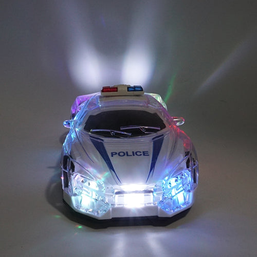 1/18 RC car cool lighting high speed remote control RC police car with 3D lights children toys happy Christmas gift