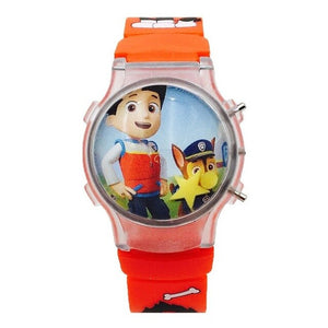 Paw Patrol 3D Projection Cartoon Children Watches Anime Figure Educational Small Kids Boys Girls Clock Toys for Children 2D33