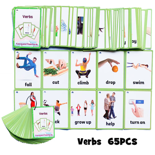 Kids Montessori Educativos Children Fun English Word FlashCards Baby Learning Educational English Card Table Game Puzzle CARDS