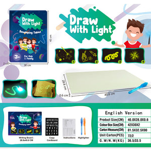 Baby Toys For Children Educational Draw With Light Fun And Developing Toy Magic Draw Best Kids Gifts Fluorescent Writing Board