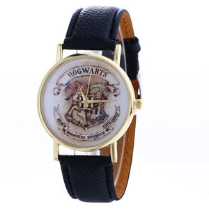 New harri potter Hogwarts Magic School Watch Hogwarts Magic Badges Leather clock for birthday party cosplay figure toys