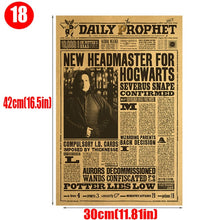 Load image into Gallery viewer, 3pcs Movie Poster Phoenix Potter Dumbledore Harried Magic World Map Educational Decree Vintage Retro Prop Decorative Painting