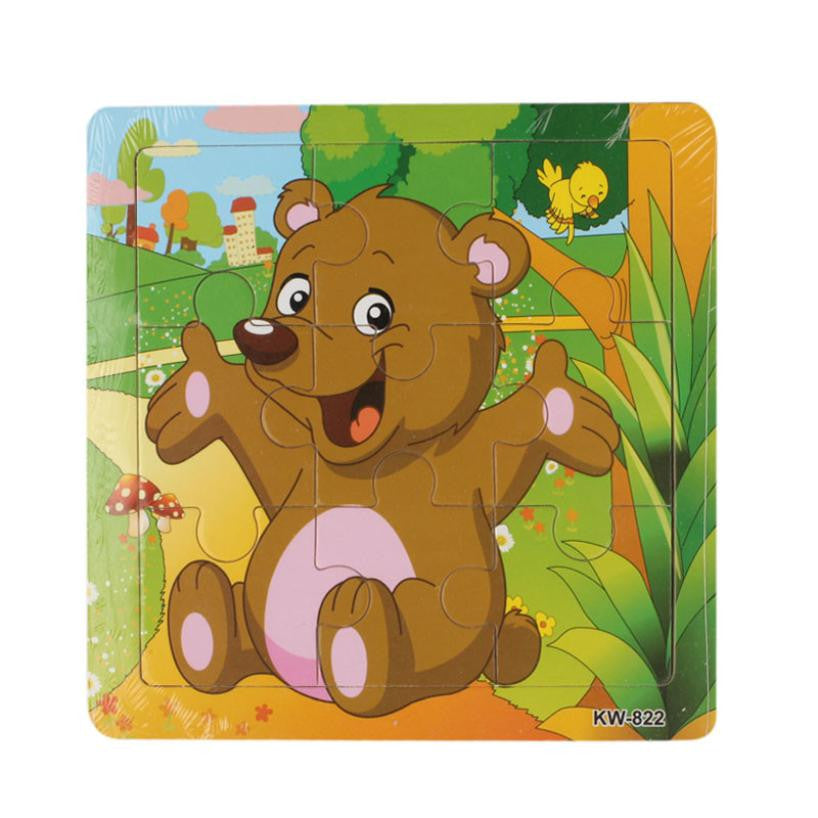 Good Quality Wooden Puzzle Animal Bear Jigsaw Toys For Children Kids Education Toy Learning Puzzles Toys kids toys Puzzle