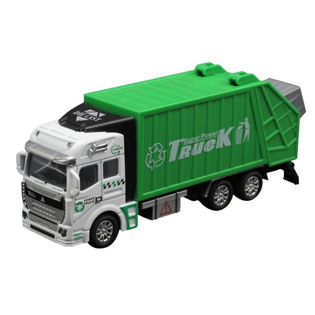 Children Model toys 1:32 Racing Bicycle Shop Truck Toy Car Carrier Vehicle Garbage Truck Educational toys