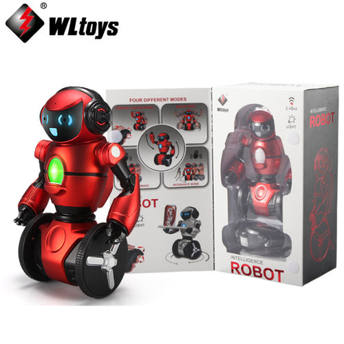 Original WLtoys F1 2.4G RC Robot Toys 3-Axis Gyro Intelligent Gravity sensor Intelligent Balance RC Smart Robot Kids Toy